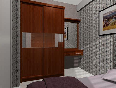 desain lemari simple contoh desain project interior apartemen green bay pluit