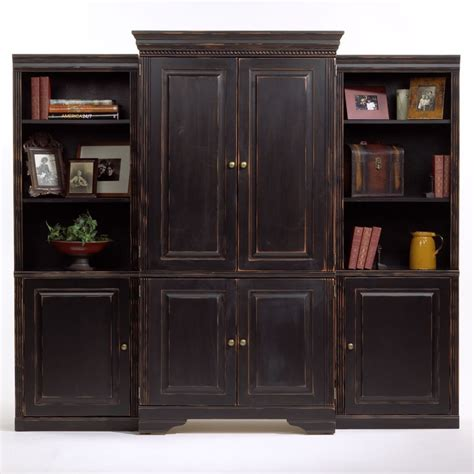 distressed armoire furniture unfinished entertainment armoire painted with l black