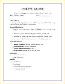 free resume templates general cv exles uk sle for
