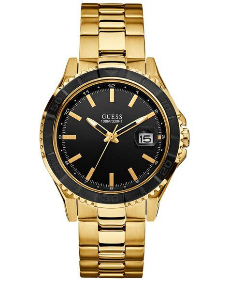 guess s gold tone bracelet 42mm u0244g7 in
