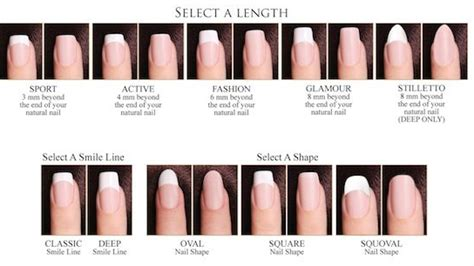 most popular nail length and shape types of artificial nail shape pictures to pin on