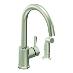 moen level kitchen faucet moen level single handle side sprayer kitchen faucet in