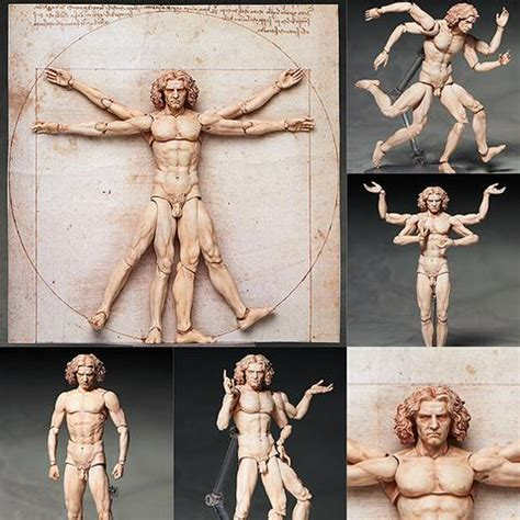 michelangelo s david sculpture action figure gadgetsin figma sp 075 vitruvian man from the table museum sold out