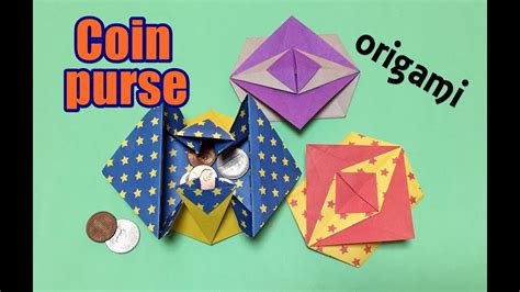 How To Make Useful Things Out Of Paper - origami coin purse easy for beginners but cool how to