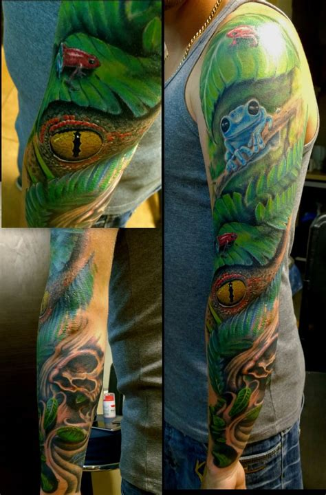 tattoo jungle jungle sleeve by karlinoboy on deviantart