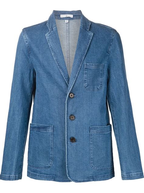 Blezer Denim blue blazer and related keywords blue blazer and