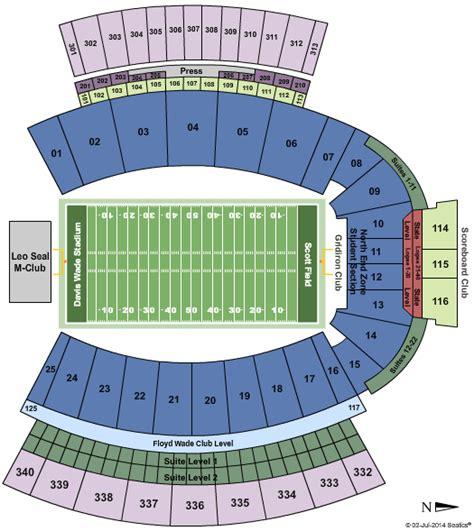davis wade stadium seating chart auburn tigers tickets seating chart davis wade stadium