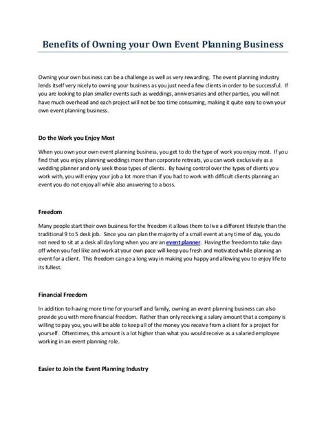Resume For Owning Your Own Business