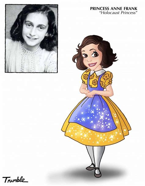 anne frank animated biography artist puts disney princess filter on 10 real life female