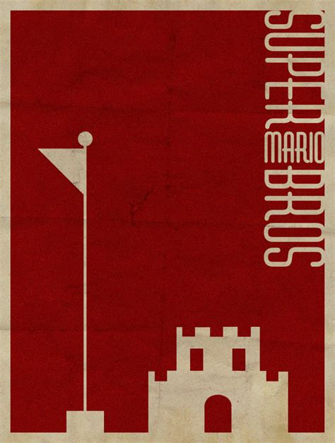 superminimalist com super mario bros minimalist poster by revoltersds on
