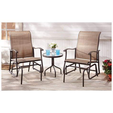 Patio Furniture Glider Chairs Roselawnlutheran Patio Furniture Gliders