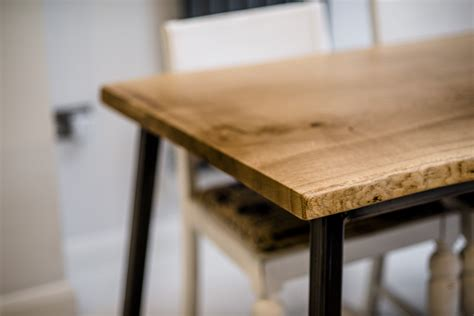 oak and steel dining table oak and steel dining table bespoke handmade furniture