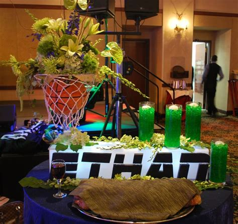 basketball themed events sports theme bar mitzvah event decor floral centerpieces