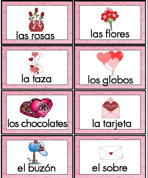 valentines day vocabulary word wall cards and vocabulary activities for