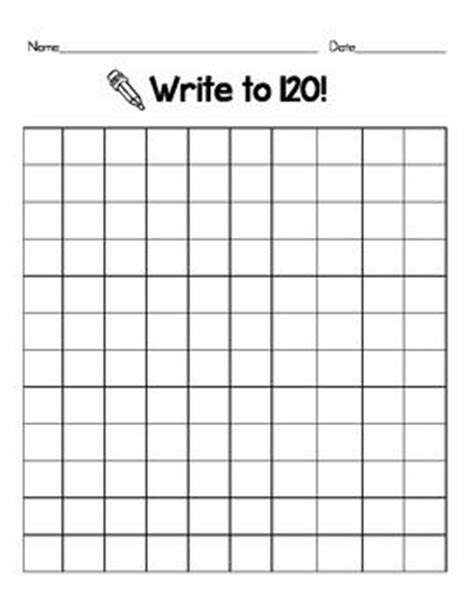 free printable blank hundreds chart to 120 blank 120 chart 120 chart math and activities