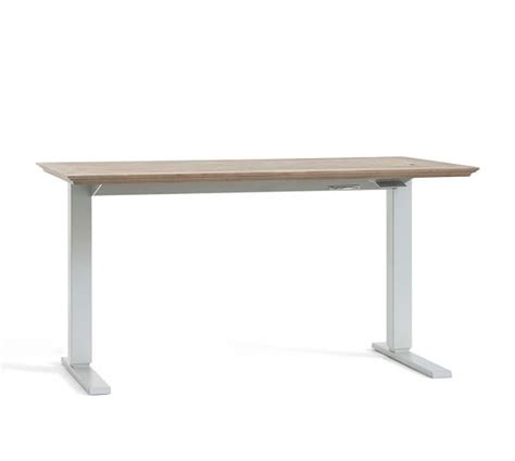 livingston sit stand humanscale desk pottery barn