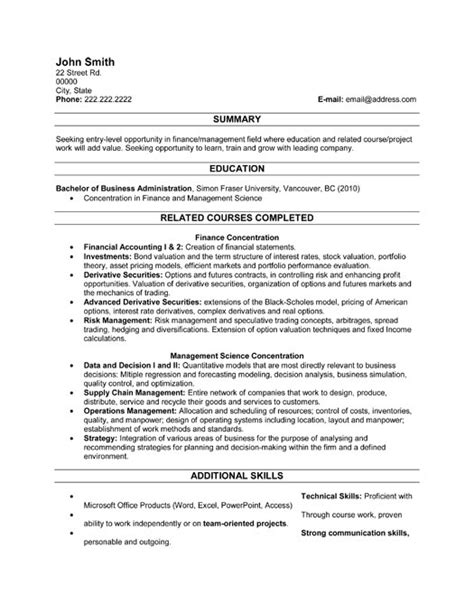 graduate resume templates sle resume september 2014
