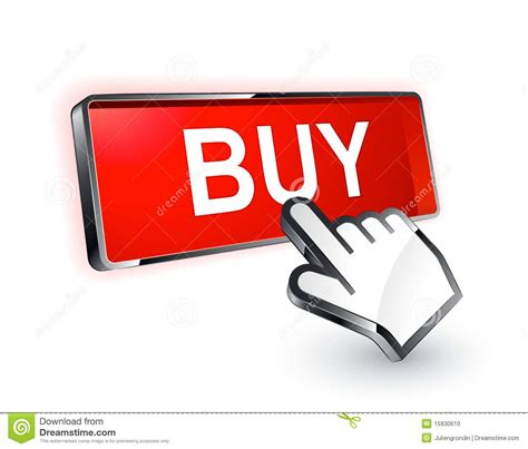 what to buy for buy button stock vector image of colour bright website