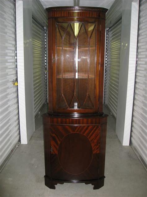 Unique Corner Curio Cabinet Antique English Mahogany Corner Cabinets