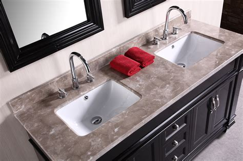 "Adorna 61"" Traditional Double Bathroom Vanity set"