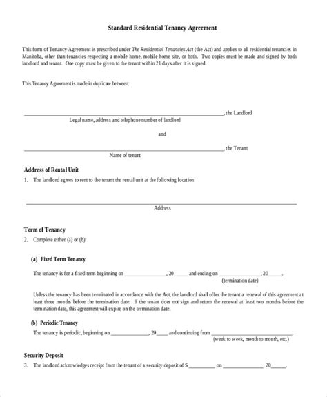 house rental agreement house rental agreement 9 word pdf documents download free premium templates