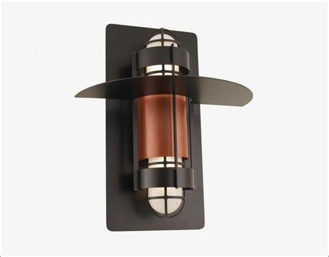 Flush Mount Wall Sconce Homestia One Light Exterior Wall Lantern Textured Bronze Finish Oregonuforeview