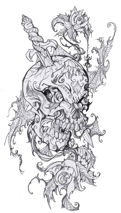 coloring pages tattoo designs sugar skull design by mosttalented onearth