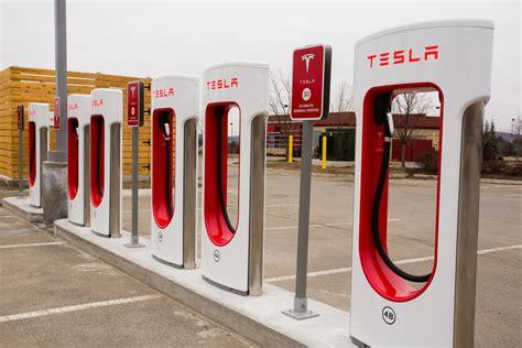 Tesla Supercharging Stations Canada Tesla Unveils Supercharging Station In Augusta Portland