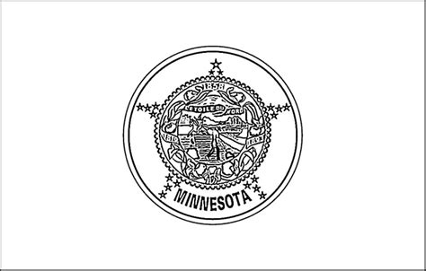 Minnesota State Flag Coloring Page free state flag of minnesota coloring pages