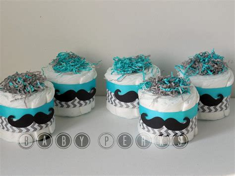 Mustache Baby Shower Decorations by Choose Your Color Set Of 4 Mustache Mini Cakes