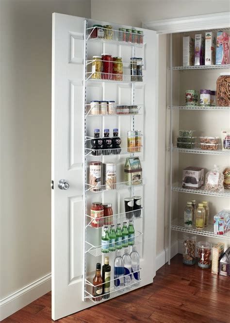 Door Spice Rack Cabinet Organizer Wall Mount Storage Kitchen Cabinet Door Shelves