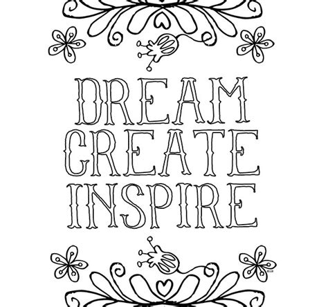easy printable quotes free printable inspirational coloring pages kids