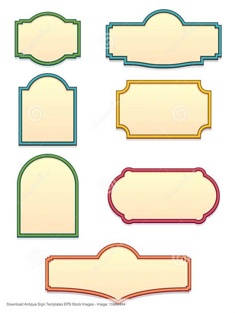signboard template vintage sign shapes seton cricut shape