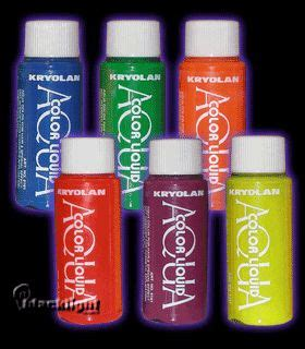 K5161 Kryolan Uv Reactive Aquacolor Liquid Temporary Hair Dye | 1000 images about special fx glow makeup facepaint on