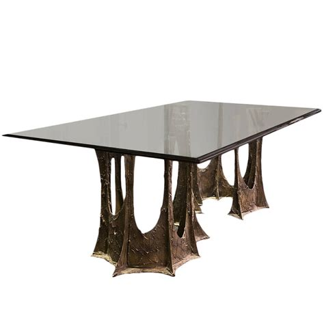 bronze stalagmite dining table by paul 1973 at 1stdibs