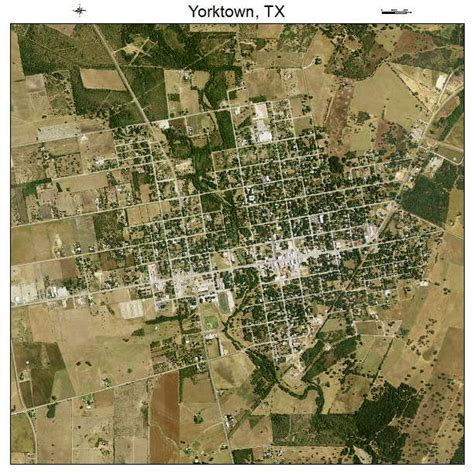 yorktown texas map aerial photography map of yorktown tx texas