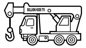 truck coloring pages colors crane truck coloring page for