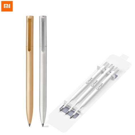 Xiaomi Mijia 0 5mm Metal Sign Pen new original xiaomi mijia 0 5mm metal sign pen black