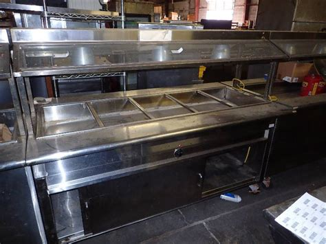 5 well 70 commercial heated steam table on caster s