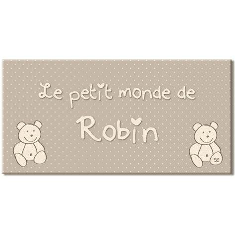 Lettre Decorative Pour Chambre Bébé by Pour B 233 B 233 Plaque De Porte Pr 233 Nom Sur Le Th 232 Me Des Oursons