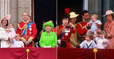 the color royal the royal family at trooping the colour through the years
