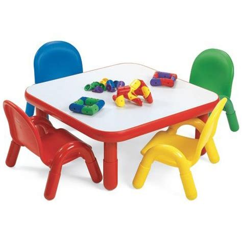 angeles 174 baseline 174 toddler square table and 4 chair set