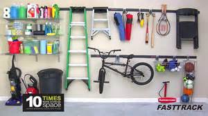 Garage Organization System - rubbermaid fasttrack garage organization system youtube