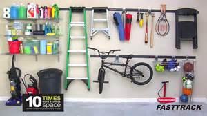 Fasttrack Garage Organization System - rubbermaid fasttrack garage organization system youtube