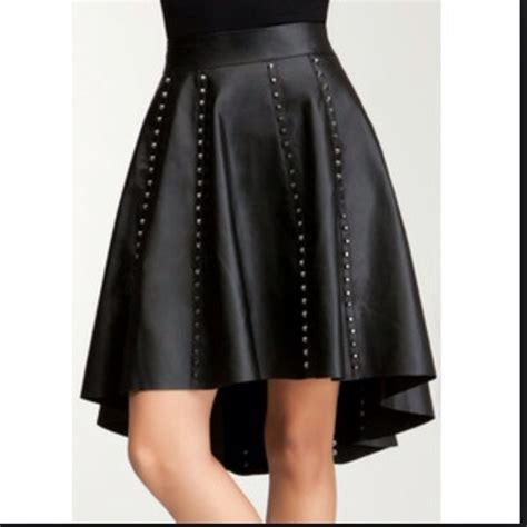 10 bebe dresses skirts bebe hi lo studded leather