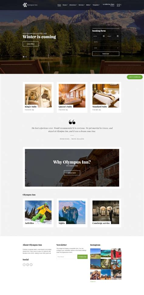 themes wordpress best 2015 best hotel wordpress themes of 2015 themes4wp