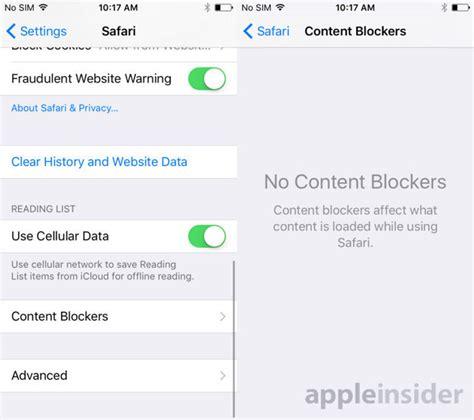 apple is adding content blockers to safari in ios 9