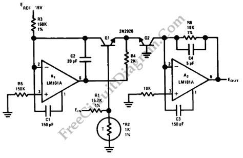 transistor logarithmic lifier anti log converter schematic circuits circuit diagram world