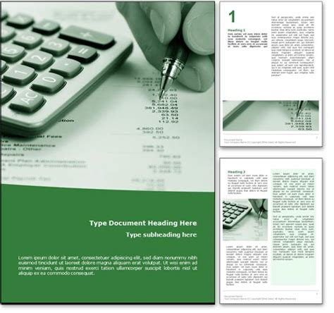 word page design templates royalty free accounting microsoft word template in green