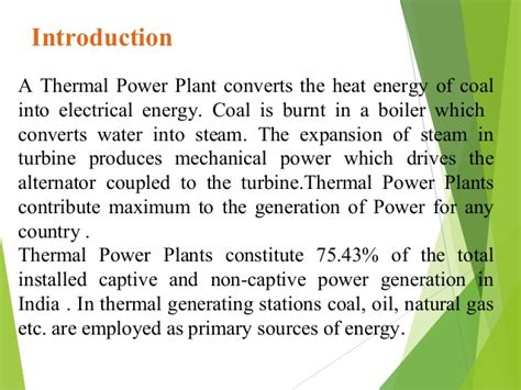 layout of thermal power plant ppt thermal power plant bathinda ppt